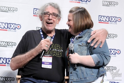 Peter Mayhew and Chewbacca Mom